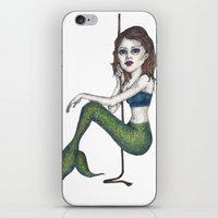 siren iPhone & iPod Skins featuring Siren by Young Clerks