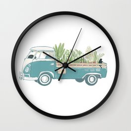 TukTuk Cat Van/truck deliver Plants & Flower Wall Clock