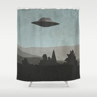 mulder Shower Curtains featuring I Want to Know by Ed Burczyk