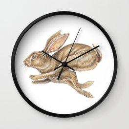 Hare Watercolour - Nursery Art by Magda Opoka Wall Clock
