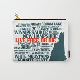 New Hampshire Live Free or Die Carry-All Pouch