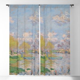 """Claude Monet """"Spring by the Seine"""" Blackout Curtain"""
