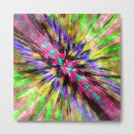 Colorful Starburst Tie Dye Metal Print
