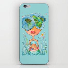 blue girl -- she's a gentle one. iPhone Skin