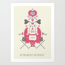 Anti Valentines - Fatbitch Art Print