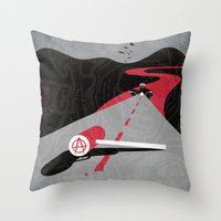 sons of anarchy Throw Pillows featuring Sons Of Anarchy Print by Take Heed