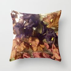 Violets From Another Time Throw Pillow