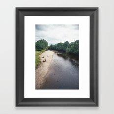 Along the river... Framed Art Print