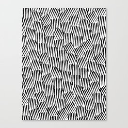 Crosshatched yourself Canvas Print