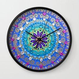 Pretty Glittery Jewelled Mandala Wall Clock