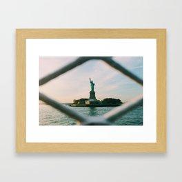 Sights Set on Liberty Framed Art Print