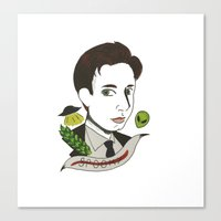 mulder Canvas Prints featuring Fox Mulder  by  Lady Grey