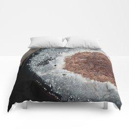 Abstract Rust Textures Comforters