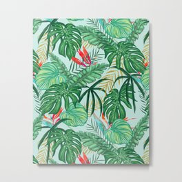 The Tropics ||| #illustration #tropical Metal Print