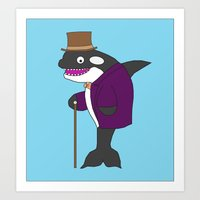 willy wonka Art Prints featuring Free Willy Wonka by Dr. Spaceman40