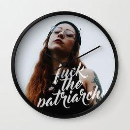 Fuck the Patriarchy Wall Clock