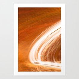 Abstract Light Streaks Art Print