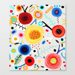 Amazing floral handmade drawing Canvas Print