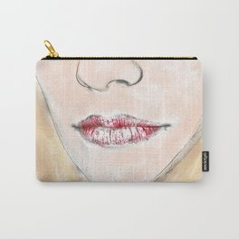Watercolour Female Close Up Carry-All Pouch