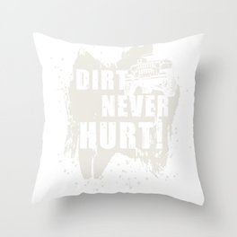 Off road, mud, vehicle Throw Pillow
