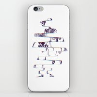 skeleton iPhone & iPod Skins featuring Skeleton by Ali GULEC