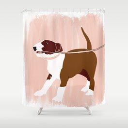 Eugenie the Bull Terrier Shower Curtain