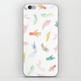 Watercolor Hands Pattern iPhone Skin