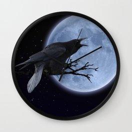Raven Speak Wall Clock