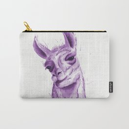 Llama in Purple Carry-All Pouch