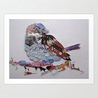 sparrow Art Prints featuring sparrow by Ruud van Koningsbrugge
