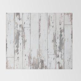 White Wood Throw Blanket