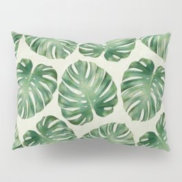 Tropical monstera leaves Pillow Sham