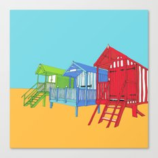 Thoughts of Summer // Beach Huts Canvas Print