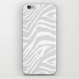 ZEBRA GRAY AND WHITE ANIMAL PRINT iPhone Skin