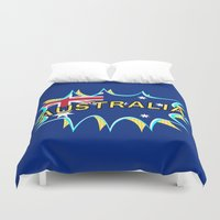 australia Duvet Covers featuring Australia by mailboxdisco