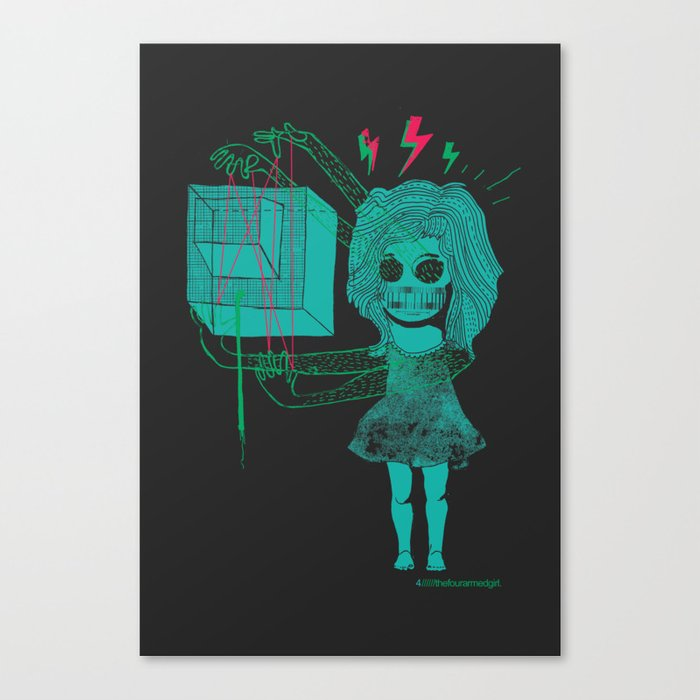 The Four-Armed Girl Canvas Print
