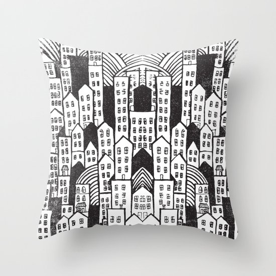 SPRAWL Throw Pillow