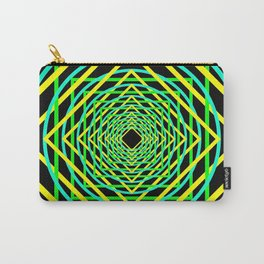 Diamonds in the Rounds Blacklight Neons Yellow Greens Carry-All Pouch