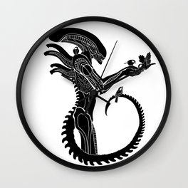 Xenomorph and birds Alien Covenant Wall Clock