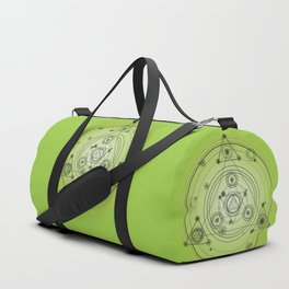Green geometric shapes Duffle Bag