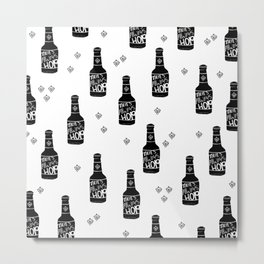 There's always hope beer bottle hop love monochrome Metal Print