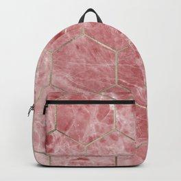 Rosa hexagons Backpack