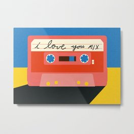 I love you MIX tape Metal Print