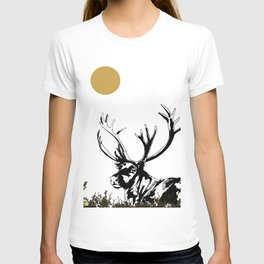 Art print: The reindeer named Caribou T-shirt