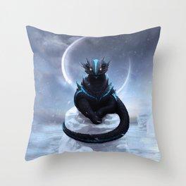 Ice Dragon Throw Pillow