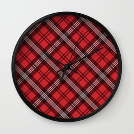 Scottish Plaid-Red Wall Clock