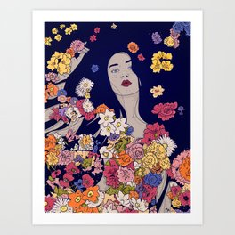 Spring Beauty Art Print