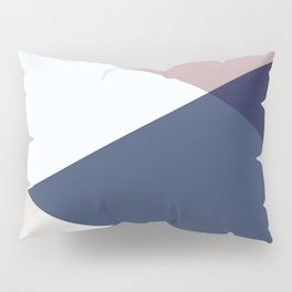 Geometrics - blush indigo rose gold Pillow Sham