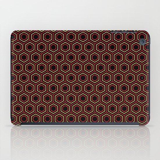 Hexagon Pattern in Red iPad Case