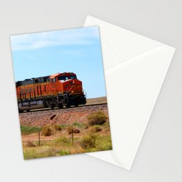 Orange BNSF Engines Stationery Cards